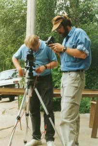 "Tom (r) filming ""Korban"" in Kazan, Tatarstan"